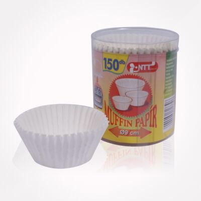 NTT1739FEKK 9 cm fehér muffin papír 150db-os