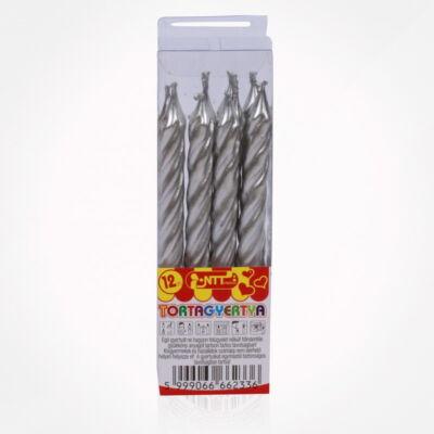 FST6233GYTR Tortagyertya 12 db-os ezsüst metál