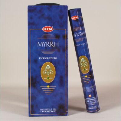 HEM0027FSHD HEM Füstölő 20 szállas Myrrh